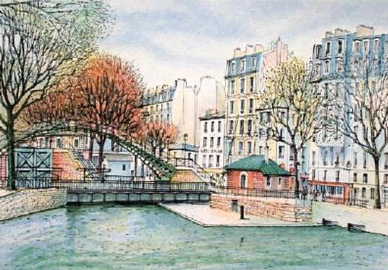 Canal St Martin Painting