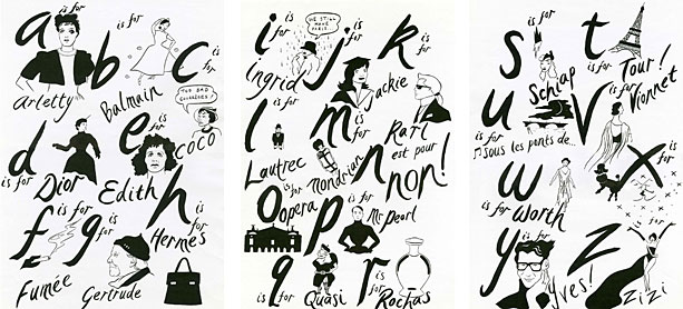 An alphabet of Paris