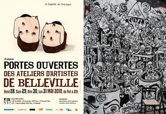 Belleville Artist Porte Ouvertes Graffiti Contemporary Art