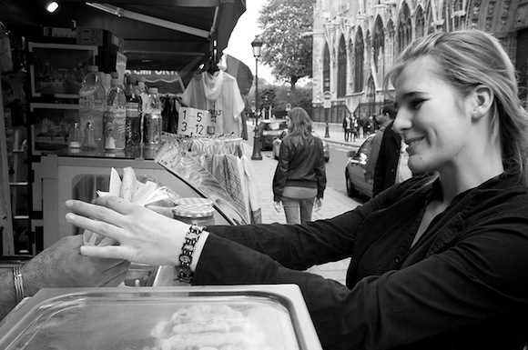 Paris Smiling Girl Crepes