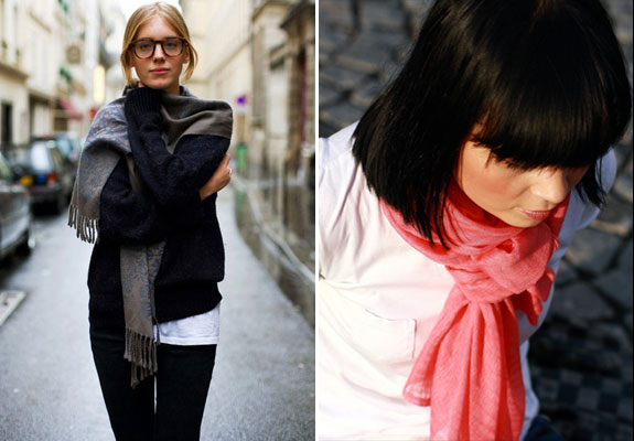 French Women Scarves Paris