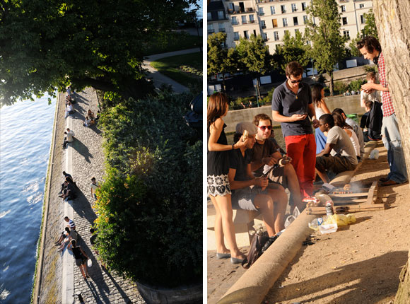 Summer Picnic in Paris Seine