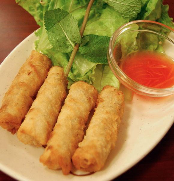 Rosa Jackson Spring rolls Nems Paris Vegetarian resto