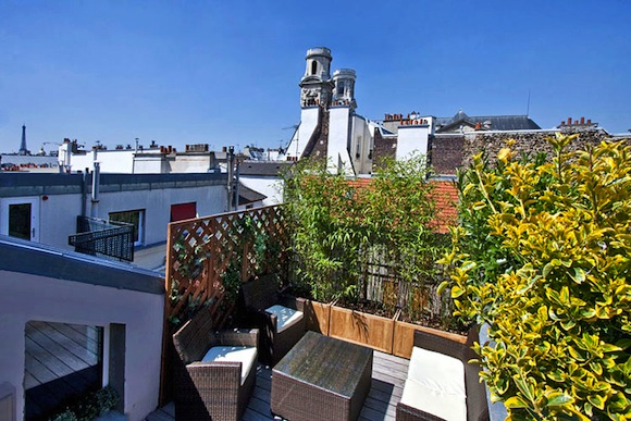 Saint Germain Paris apartment Servandoni terrace