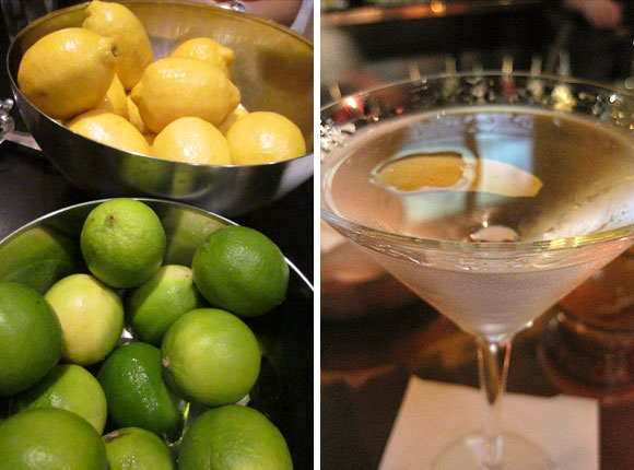 Paris Cocktails: Martini and Lemons and Limes
