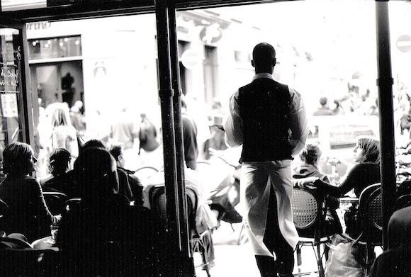 Paris Cafe Waiter B&W