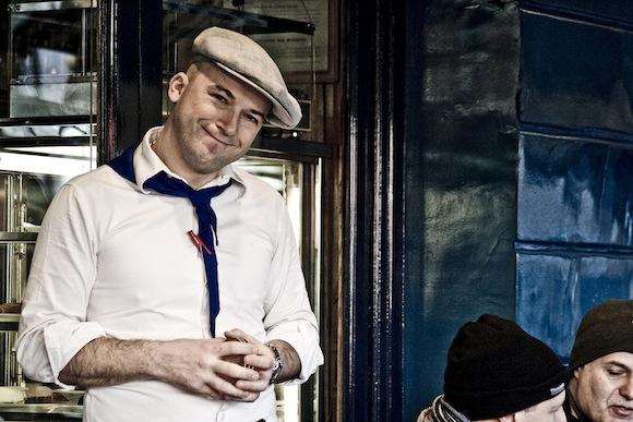 Man Beret Bar Cafe Paris