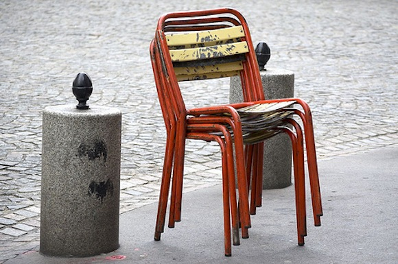 Little Brown Pen Chairs Paris