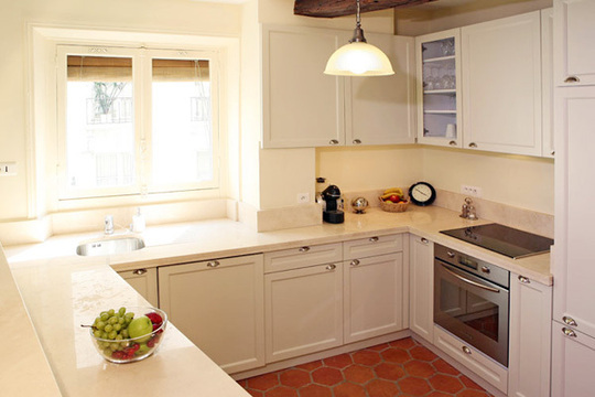 Pretty Bright Small Kitchen Color For Apartment Makes A Parisian Kitchen Different From The Average American Kitchen