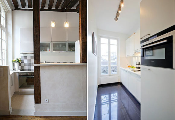 Traditionally Parisian Kitchens