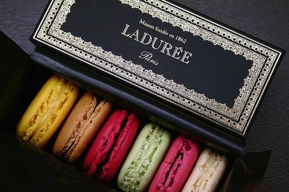 Ladurée Macarons In Their Sleek Box Louis Beche