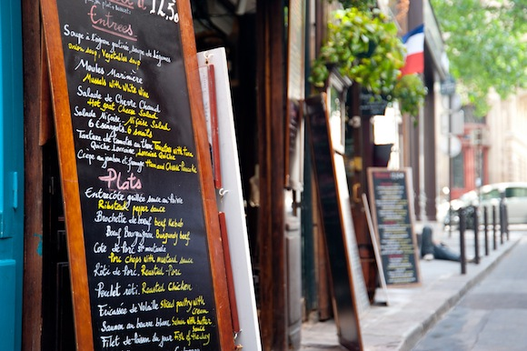 Decoding the French menu isn't always easy, especially when it's handwritten on a blackboard like this one.