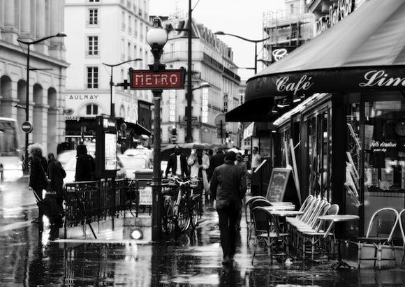 Becoming French, how to live and work in France, means you take the metro everywhere, especially when it rains.