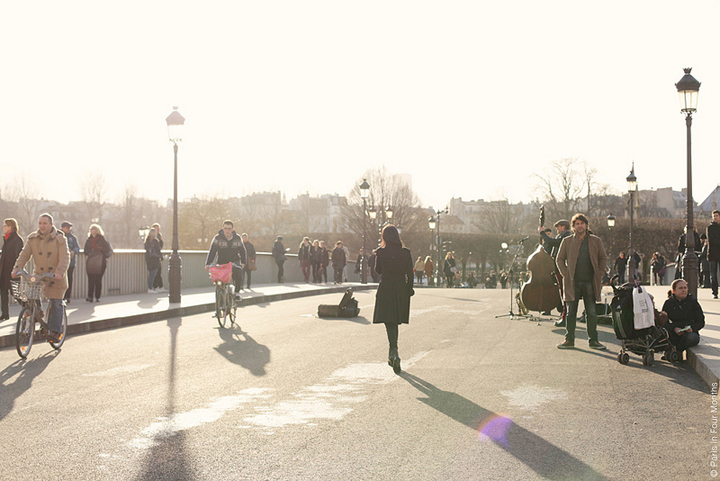 On Sundays in Paris you'll see Parisians strolling around the city, especially when the sun's out.