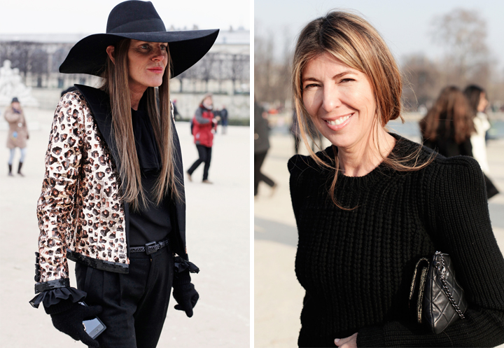 HiP Paris Blog, Carin Olsson, Anna dello Russo and Nina Garcia at Paris Fashion Week FW13