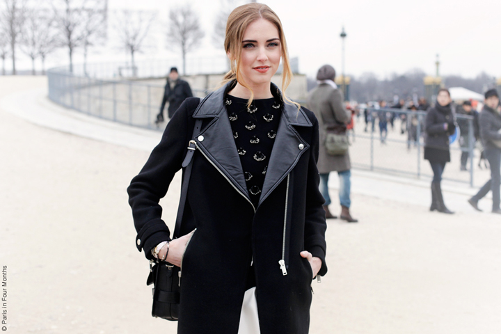 HiP Paris Blog, Carin Olsson, Chiara Ferragni at Paris Fashion Week FW13