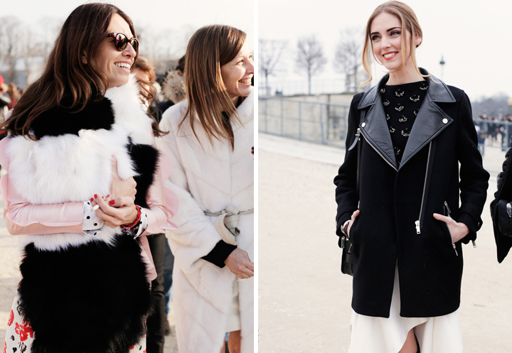 HiP Paris Blog, Carin Olsson, Viviana Volpicella and Chiara Ferragni Paris Fashion Week FW13