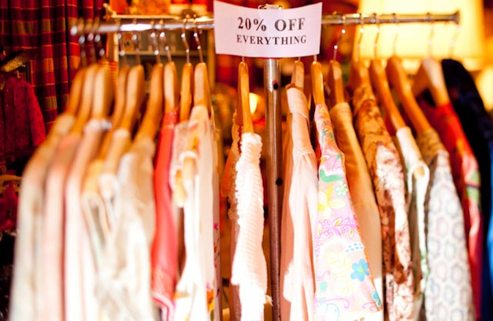 Shopping on a budget in Paris is possible during the sales, because there's at least 20 per cent off items like these tops.