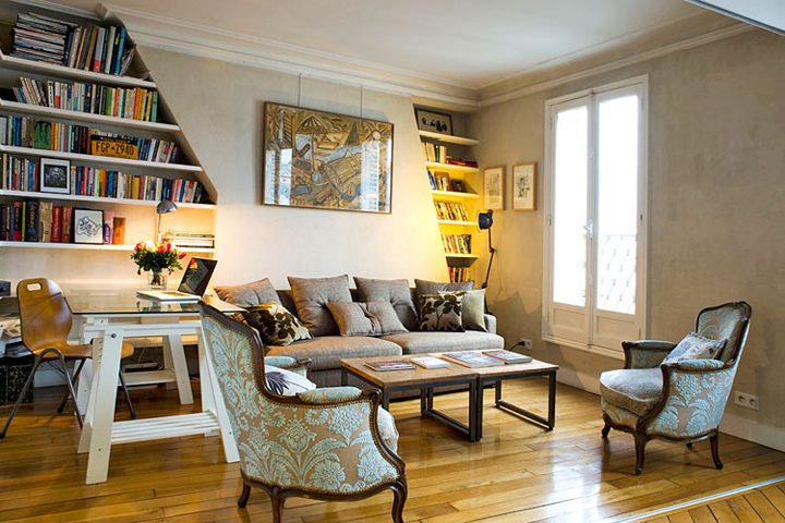 Inspiration for decorating your apartment like a Parisian, especially if you like to mix old with new.