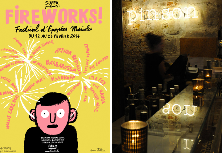 February Events, HiP Paris Blog, Festival Fireworks, Cafe Pinson