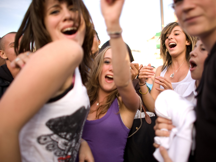 When parenting in Paris you need to let teenagers see their friends like this group of girls partying.