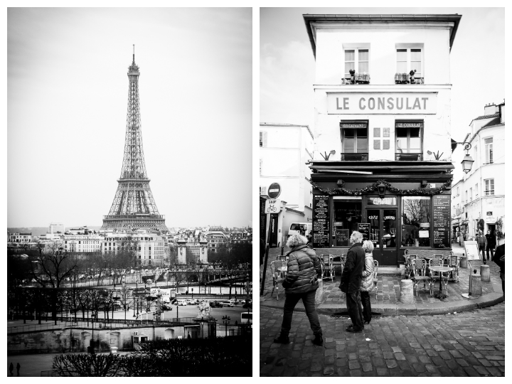 Paris in Black & White, Eiffel Tower Le Consulat, Michael Kandel
