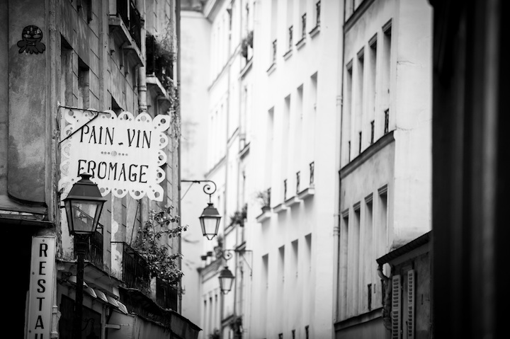 Paris in Black & White, Pain Vin Fromage, Michael Kandel