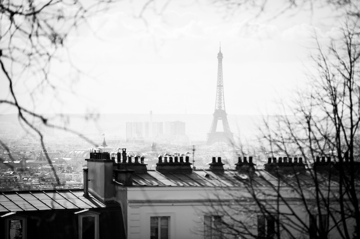 Paris in Black & White, Eiffel Tower, Michael Kandel