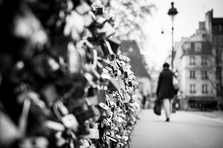 Paris in Black & White, Locks, Michael Kandel