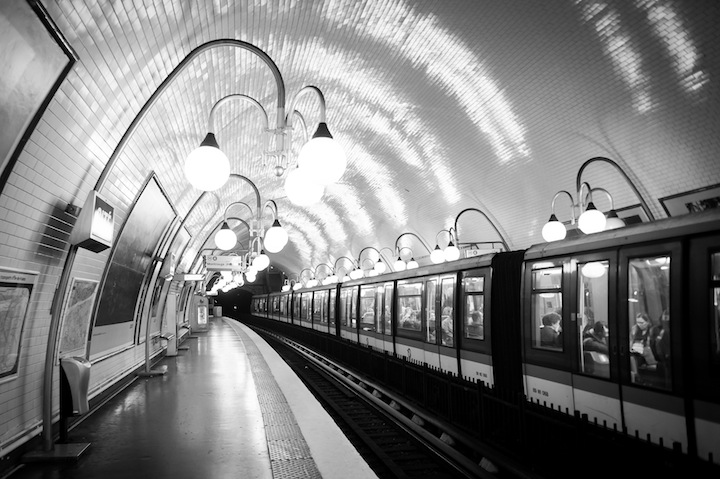 Paris in Black & White, Metro, Michael Kandel