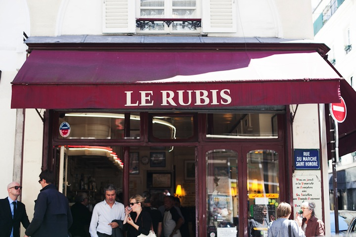 Top Five Cafes in Paris, HiP Paris Blog, Le Rubis, by Carin Olsson