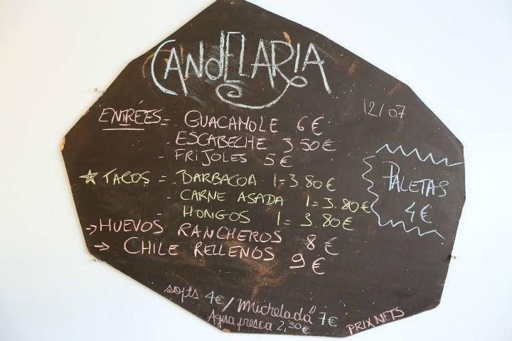 HiP Paris Blog, Best Mexican Restaurants, Casey Hatfield, Candelaria Menu