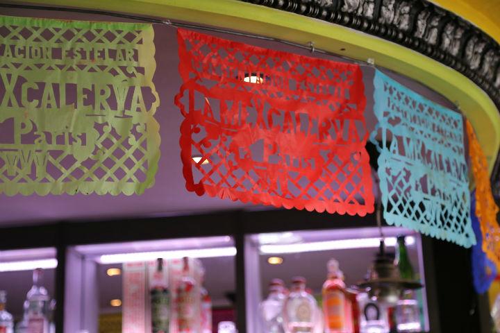 HiP Paris Blog, Best Mexican Restaurants, Casey Hatfield, La Mexcaleria Flags