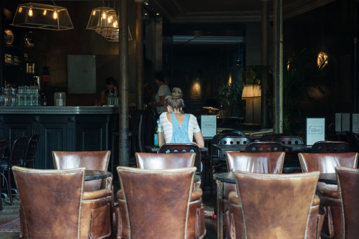 The best Indian Restaurants in Paris, including chic Marcel on the Canal Saint Martin with its brass features and brown distressed leather armchairs.