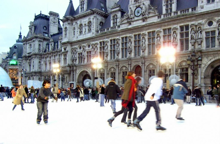 December Events in Paris, Ice Skating, Hotel de Ville, Jean-Phillippe Bourque