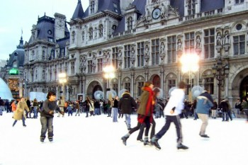 Featured December Events in Paris, Ice Skating, Hotel de Ville, Jean-Phillippe Bourque