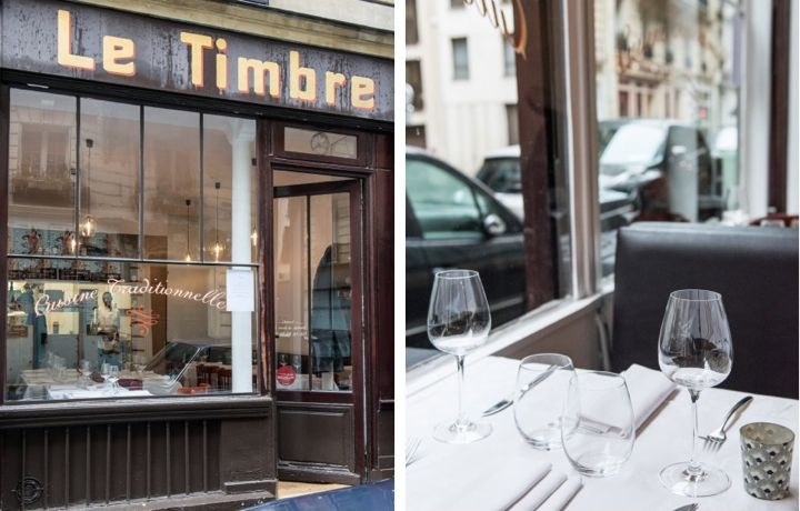 Le Timbre, Montage Exterior and Table, Paris Cuisine