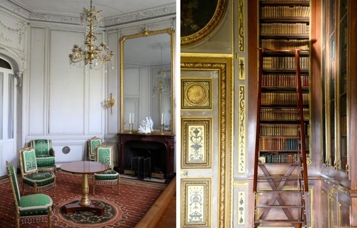 Montage, Paris Day Trips, Salon des Dames & Library at Vaux-le-Vicomte, Chateau Visit