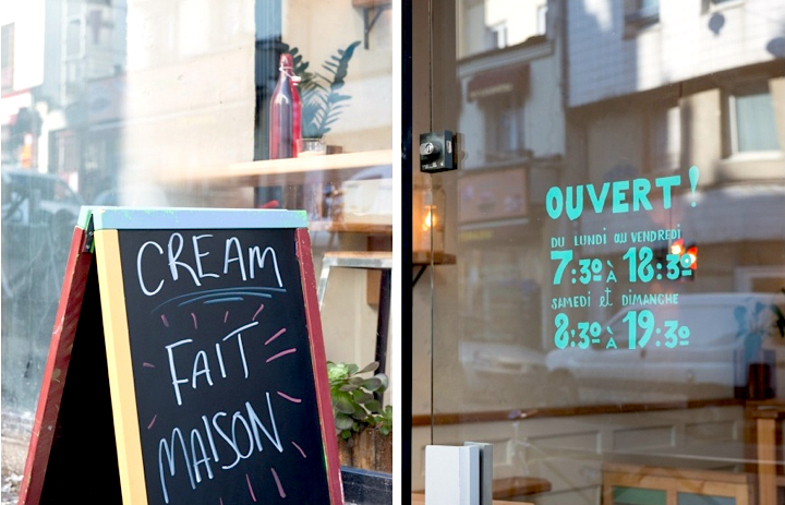 CREAM Café: Stop in for a craft-roasted espresso or a light lunch at Paris' own authentic coffee shop in Belleville