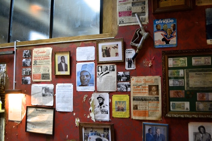 Paris bar and restaurant Le Comptoir General celebrates African cultures with a decor of collected vintage photographs and posters.