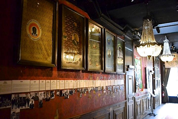The corridor at Paris bar and restaurant Le Comptoir General with its African memorabilia.