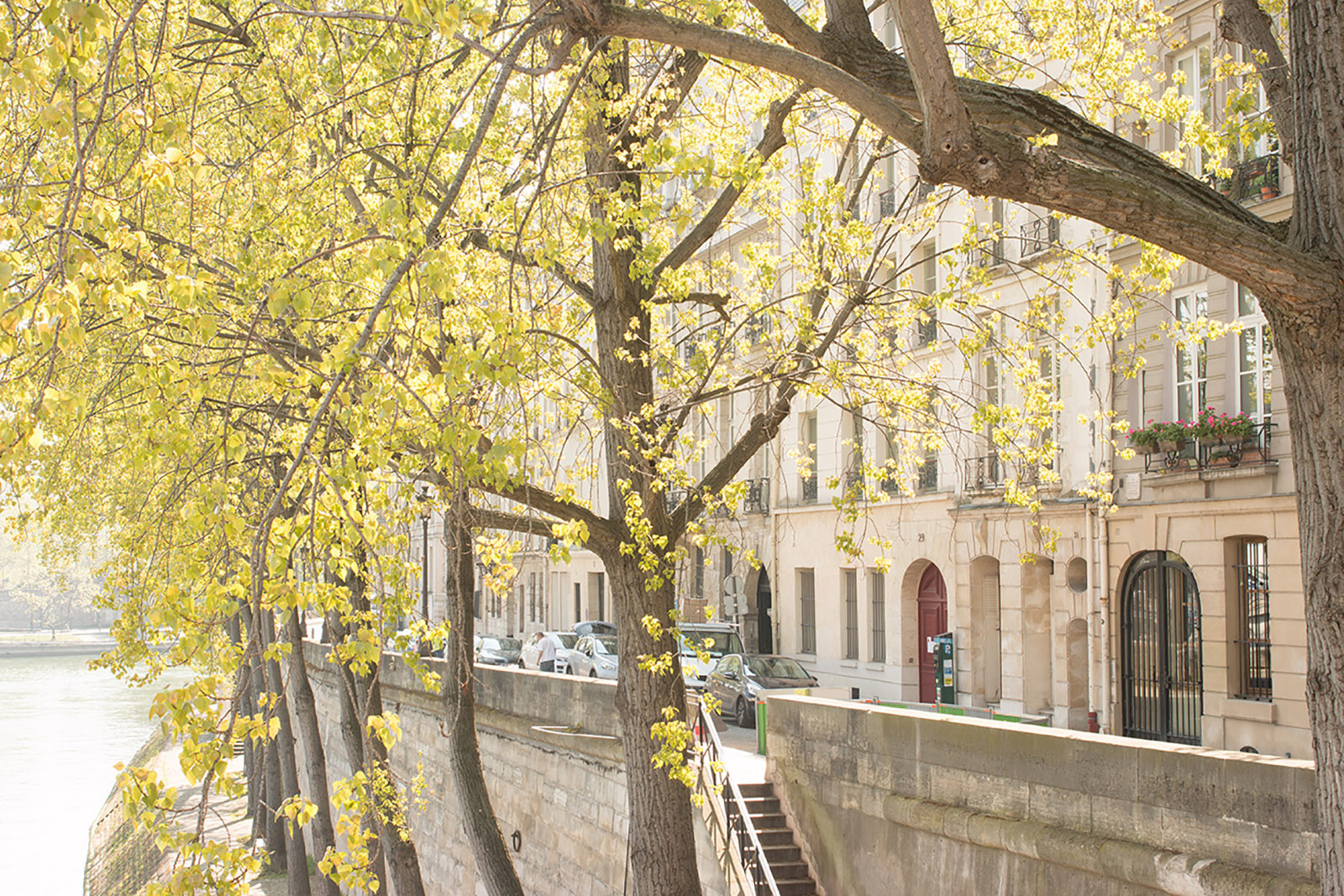 Spring in Paris by the Seine river