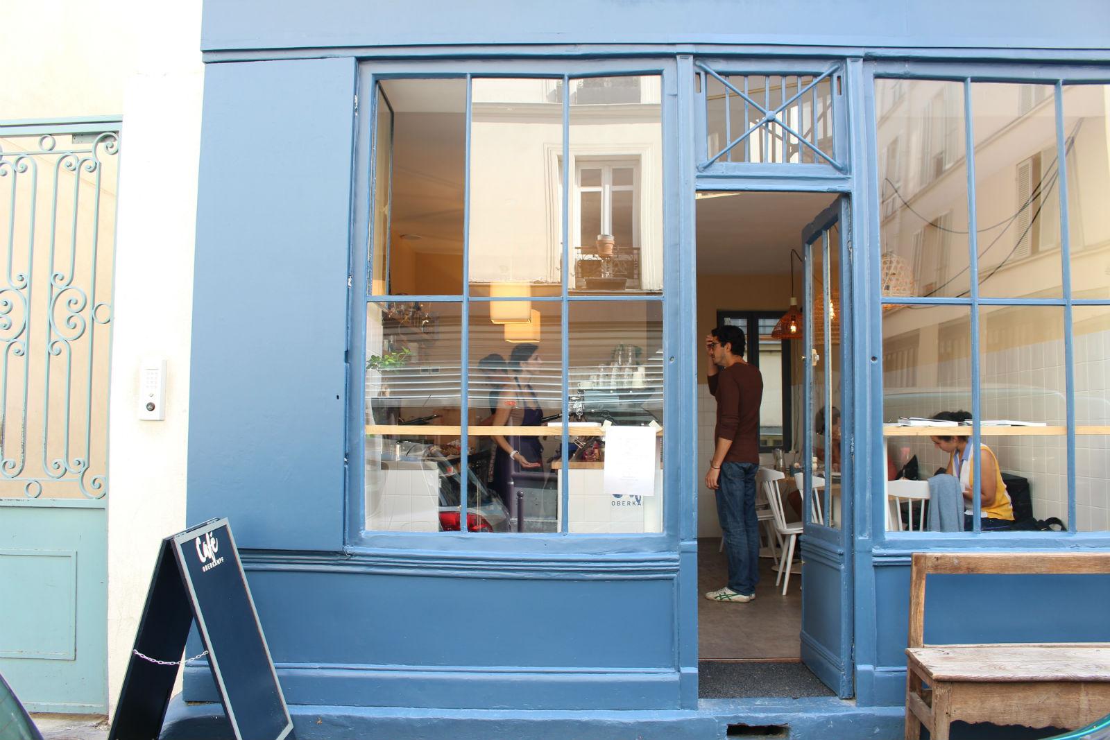 HiP Paris blog. Cafe Oberkampf. Front view.