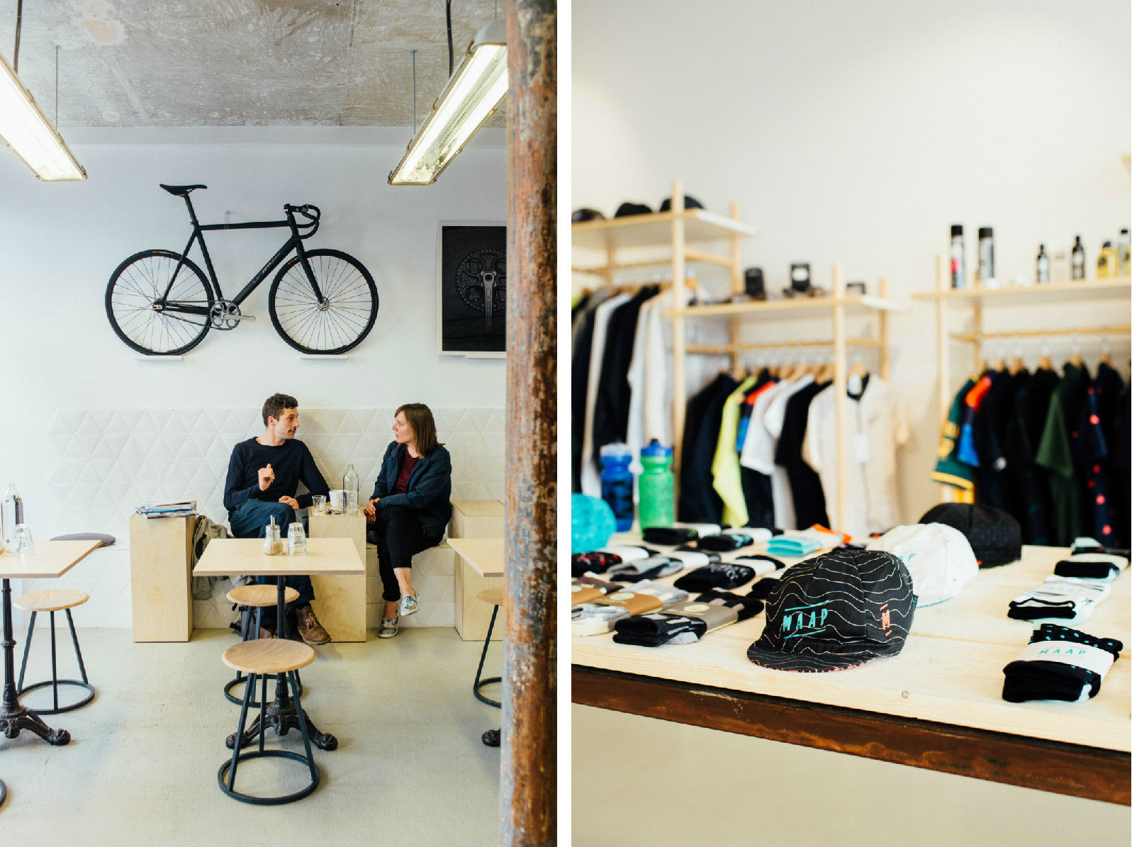 HiP Paris blog. Inside Steel.  Cafe side vs store side.