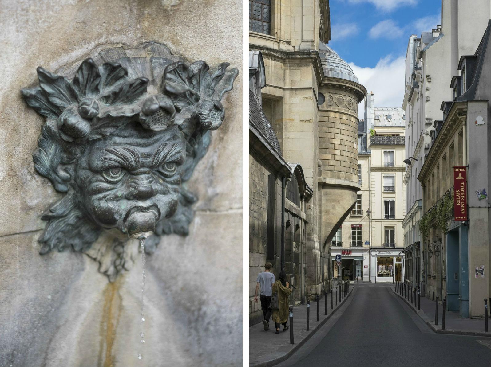 HiP Paris blog. Discovering Saint Sulpice. Fontaine Palatine, Rue Garancière.