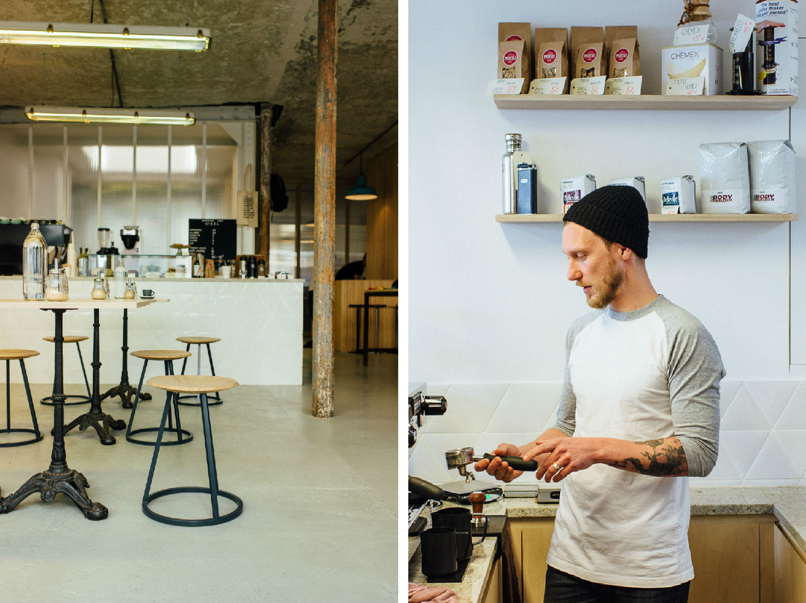 HiP Paris blog. Inside Steel. Great coffee made by cycling-savvy baristas.