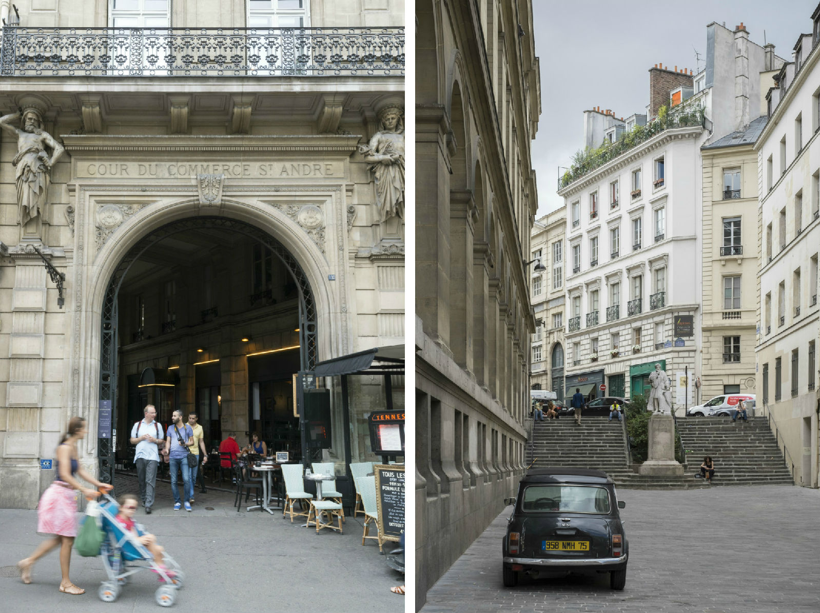 HiP Paris blog. Discovering Saint Sulpice. Cour du Commerce Saint André and Rue Antoine Dubois.