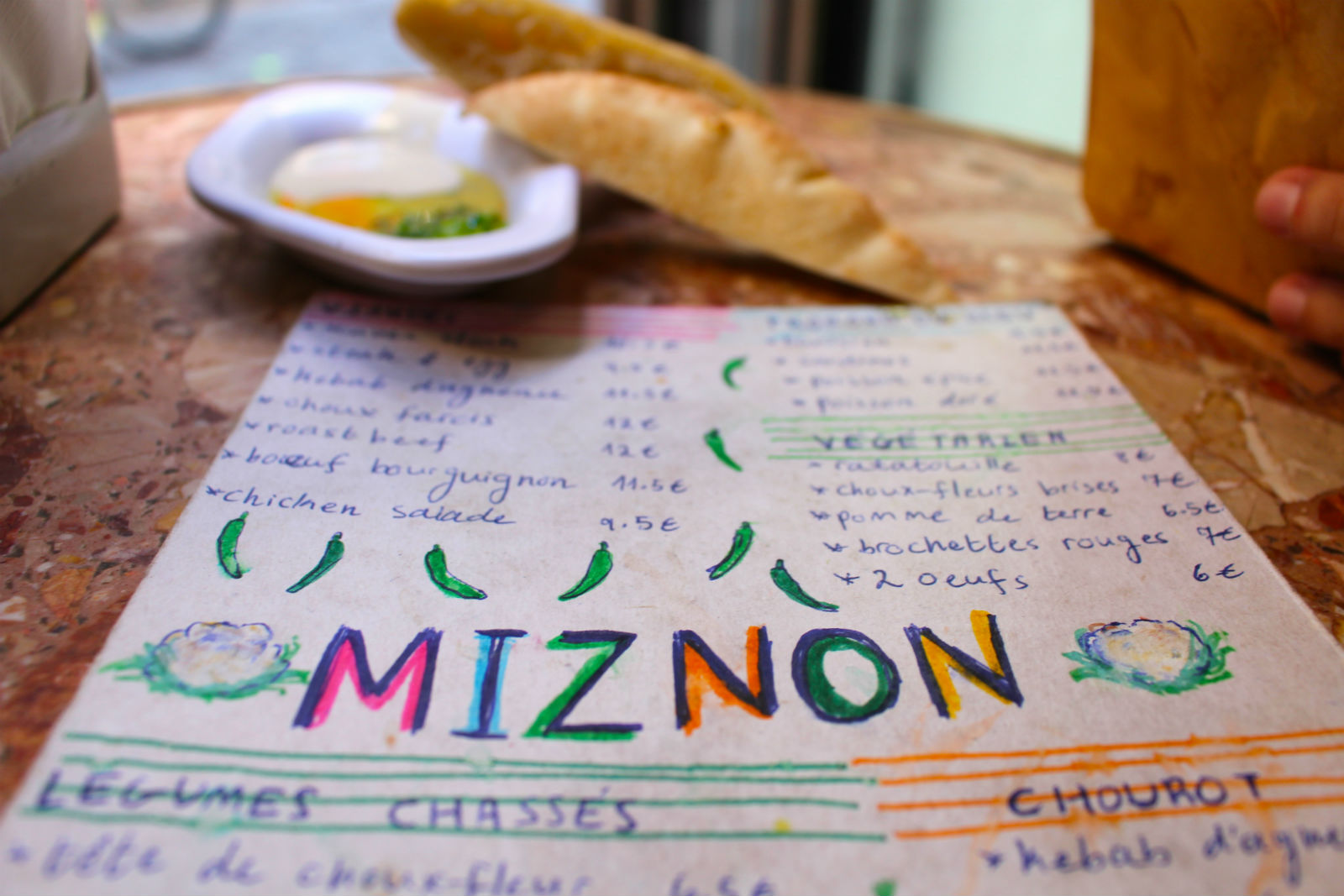 HiP Paris blog. Miznon. Delicious fare at reasonable prices.