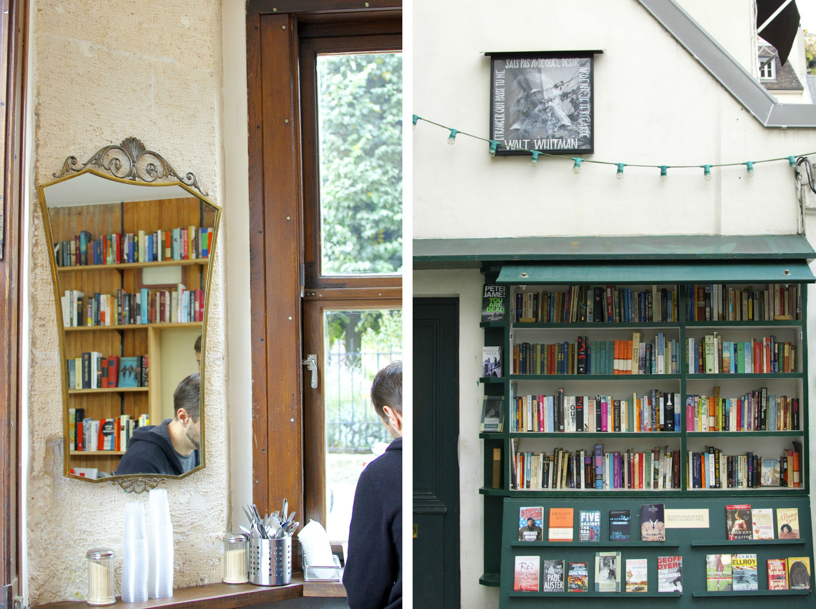 HiP Paris Blog, Shakespeare & Company Café. The café, like the store, is a haven for book lovers- now served with coffee.