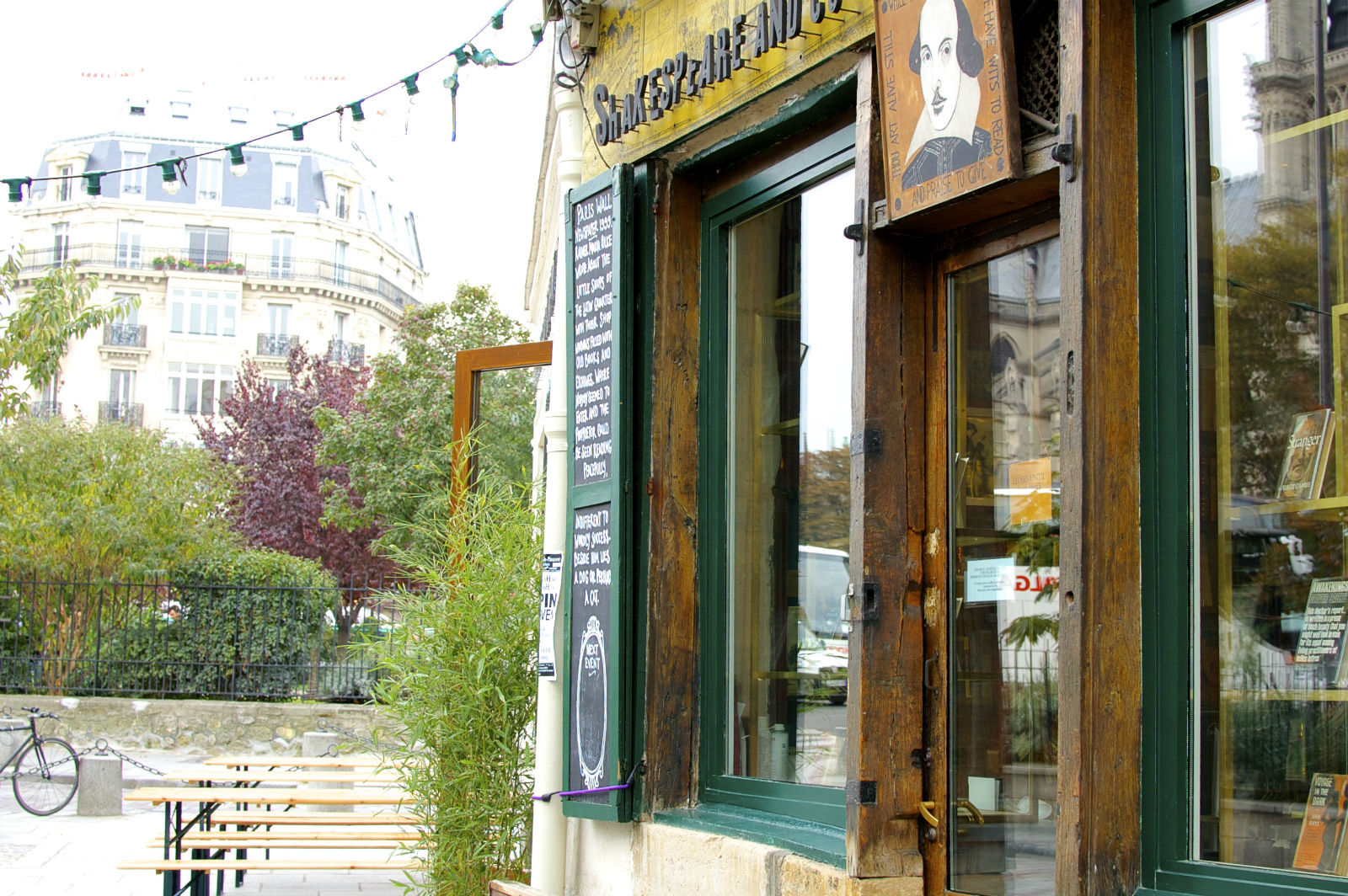 HiP Paris Blog. Shakespeare & Company Café. Where Whitman's piece of the story began.